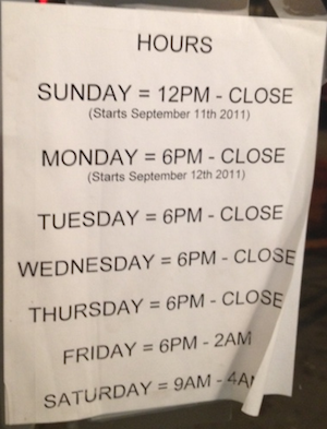 Dormont Lanes Hours of Operation